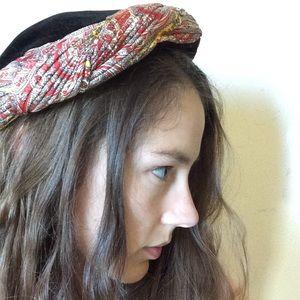 Vintage Fortune Teller's Hat Velvet Caplet